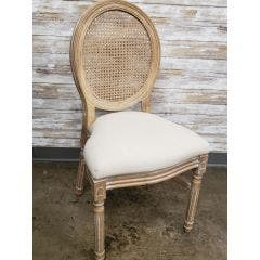 King Louis Chair - Natural with Rattan Back