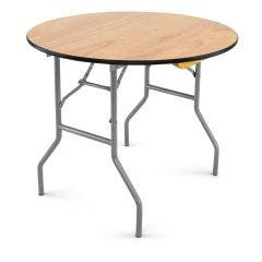 Wood Folding Table - 36'' round - vinyl edge