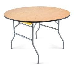 Wood folding table - 48'' round