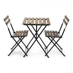 French Bistro Folding Table and Chair Set