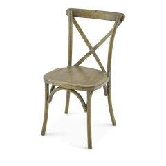 Vineyard Estate Cross Back Chair-Antique Driftwood