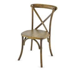 Vineyard Estate Cross Back Chair-Dark Natural