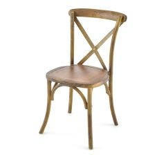 Vineyard Estate Cross Back Chair-Medium Natural