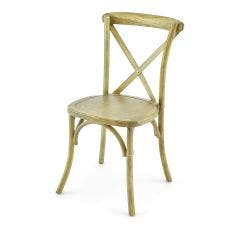 Vineyard Estate Cross Back Chair-Natural