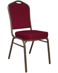 Copper Vein Banquet Chair with Solid Burgundy Upholstery