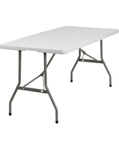 30''W x 60''L Plastic Bi-Folding Table